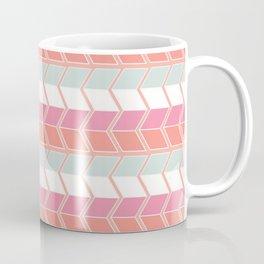 Graphic geometric cube step mosaic Coffee Mug