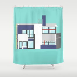 Iconic Houses - Rietveld House Shower Curtain