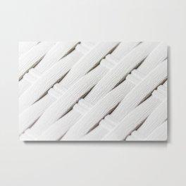 White texture of wicker Metal Print