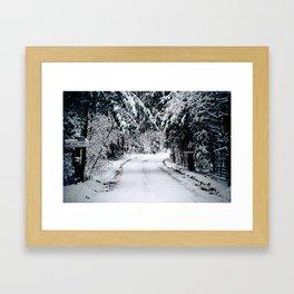 Winter Welcome Framed Art Print