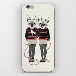 siamese twins iPhone Skin