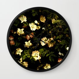 Floral Night I Wall Clock