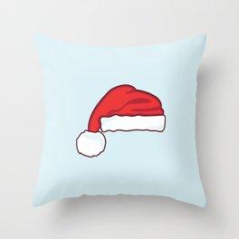 christmas santa claus hat Throw Pillow