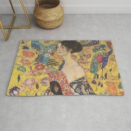 Gustav Klimt - Woman with Fan Rug
