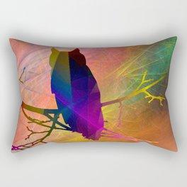 ap071 Bird on branch Rectangular Pillow