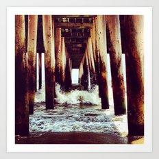 Under The Boardwalk Art Print