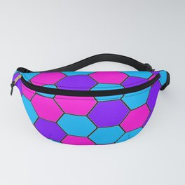 Bisexual Beehive Pattern Fanny Pack