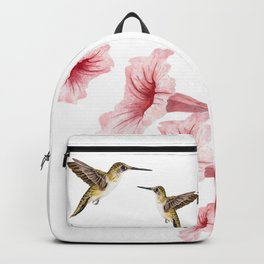 Hummingbirds and flowers Backpack