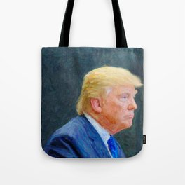 Portrait  of President Donald Trump Tote Bag