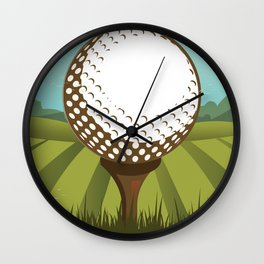 Golf vintage style travel poster Wall Clock