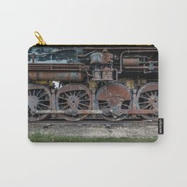 Rusting Drive Wheels of Vintage Steam Train Locomotive Carry-All Pouch