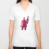 the winter soldier V-neck T-shirts featuring Winter Soldier by Simon Alenius