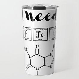 I need caffeine Travel Mug