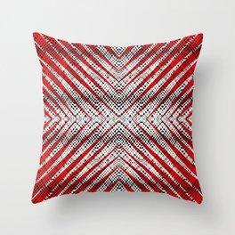 Breeze Red - Optical Series 010 Throw Pillow