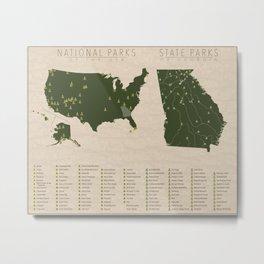 US National Parks - Georgia Metal Print