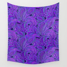 paisley paisley purple Wall Tapestry
