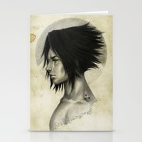 sasuke Stationery Cards featuring Weight of the World by thegreencarousel