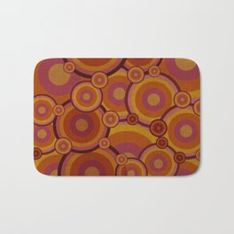 """Retro Bubble Gum Circles"" Bath Mat"