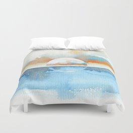 Orange Sea Drop Duvet Cover