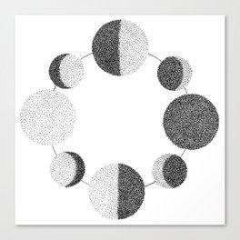 Luna Phases Canvas Print