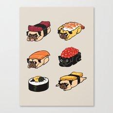 Sushi Pug Canvas Print