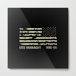 USS Farragut Metal Print