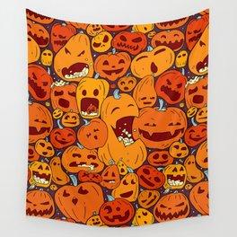 Halloween pumpkin pattern Wall Tapestry