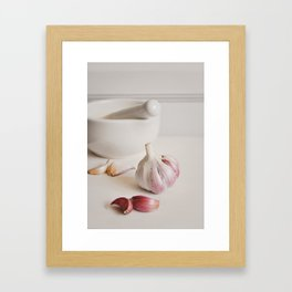 Garlic. Framed Art Print