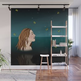 Swimming With Fireflies Wall Mural