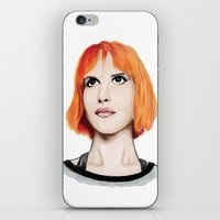 hayley williams iPhone & iPod Skins featuring Hayley Williams by Jayde Tayla