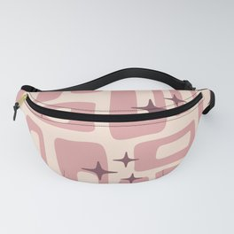Retro Mid Century Modern Abstract Pattern 577 Dusty Rose Fanny Pack