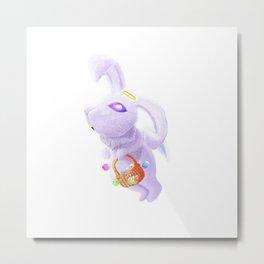 Easter Angelic Bunny Metal Print