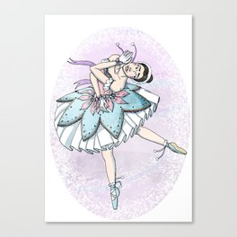 Snow Ballerina  Canvas Print