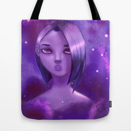 Purple Girl Tote Bag