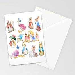 Tales of Peter Rabbit  characters Beatrix Potter Stationery Cards