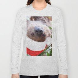 Cute Christmas Sloth Long Sleeve T-shirt