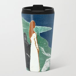 Two women at the beach, Edvard Munch, 1898 Travel Mug