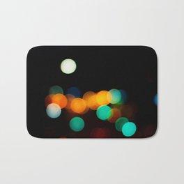 Blurred City Lights Badematte