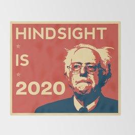 Hindsight is 2020 Bernie Sanders Throw Blanket