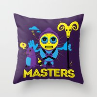 skeletor Throw Pillows featuring SKELETOR by Maioriz Home