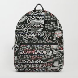 I Blame The Pollen (P/D3 Glitch Collage Studies) Backpack