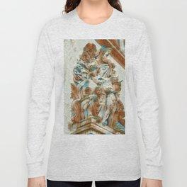 Sculpture - Paris France - Arc de Triomphe Long Sleeve T-shirt