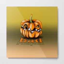 Bad Pumpkin Metal Print