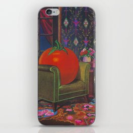Therapy With A Tomato Milton Glaser - Tomato- Something unusual is going on here - 1978 iPhone Skin