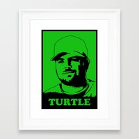 entourage Framed Art Prints featuring Entourage - Turtle by StriveArt