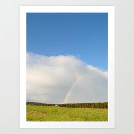rainbow in the sunshine Art Print