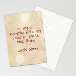 I Can Be Totally Flexible Stationery Cards