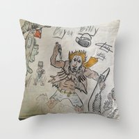 butcher billy Throw Pillows featuring billy by oldschoolking