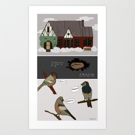 A Nest in the Ivy Art Print
