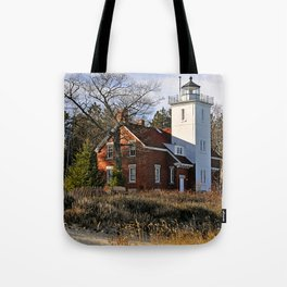 40 Mile Point Lighthouse Tote Bag